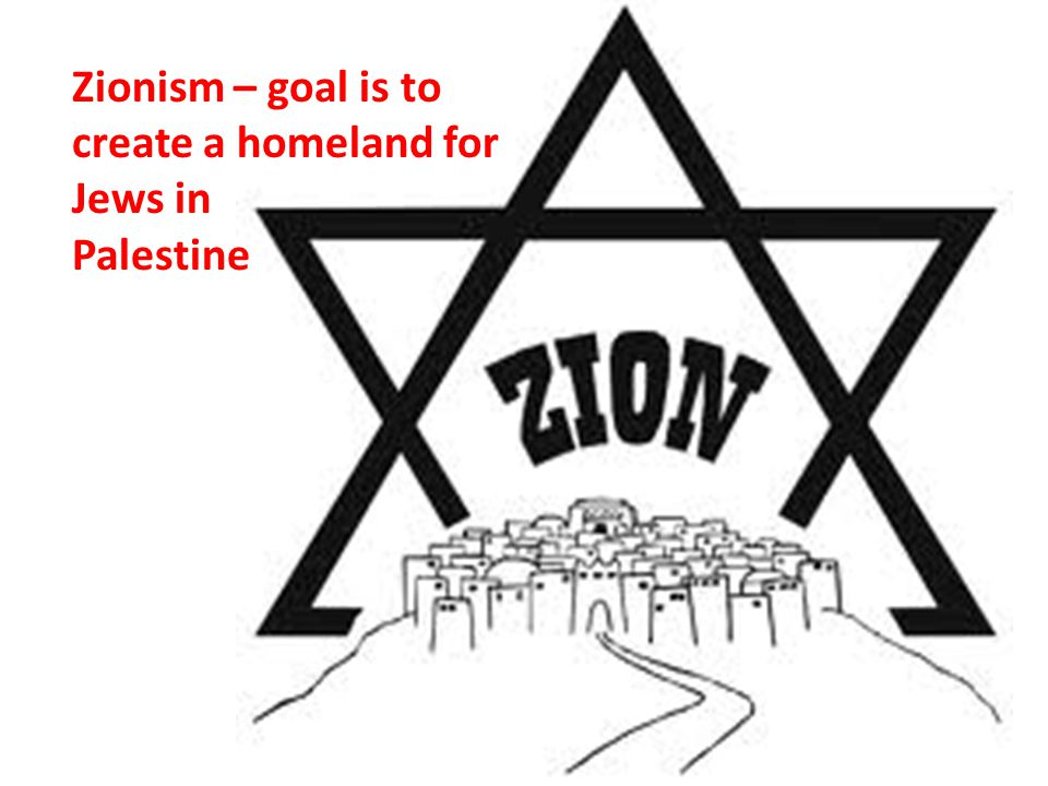 Zionism – goal is to create a homeland for Jews in