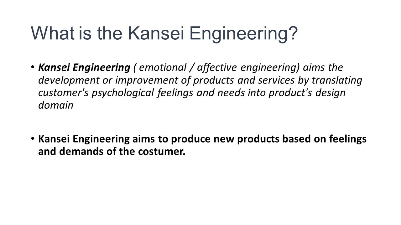 What is the Kansei Engineering