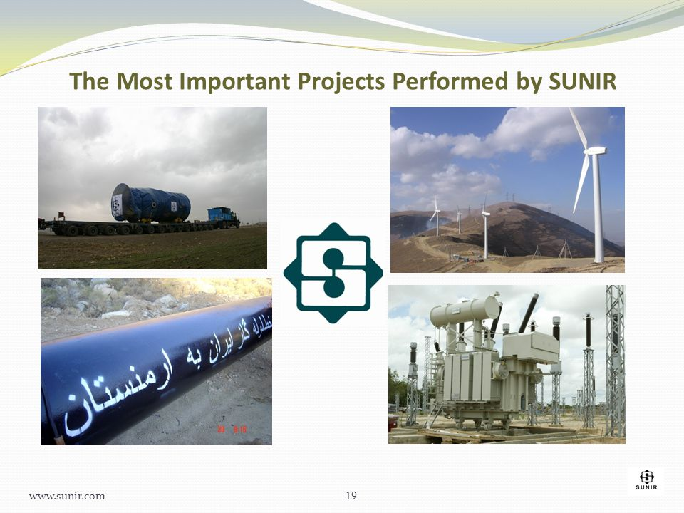 The Most Important Projects Performed by SUNIR