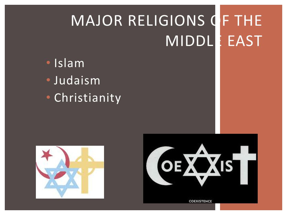 Major Religions of the Middle East