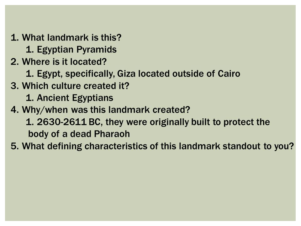 What landmark is this Egyptian Pyramids. Where is it located Egypt, specifically, Giza located outside of Cairo.