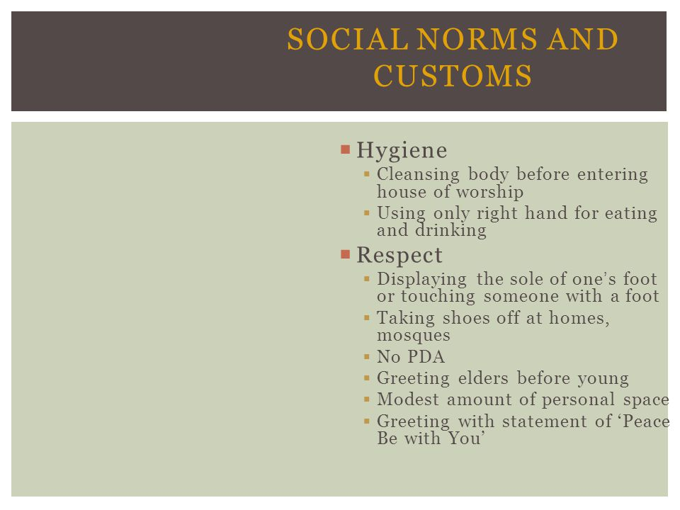 Social Norms and Customs