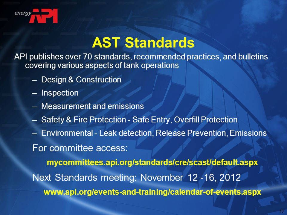 AST Standards For committee access: