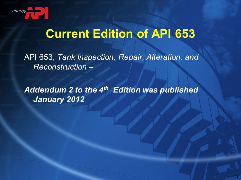 Current Edition of API 653