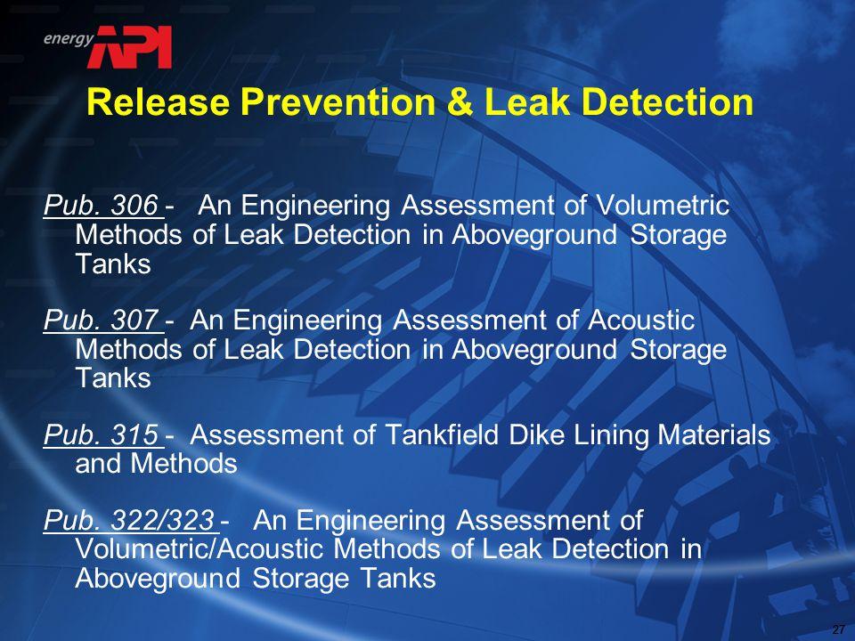 Release Prevention & Leak Detection