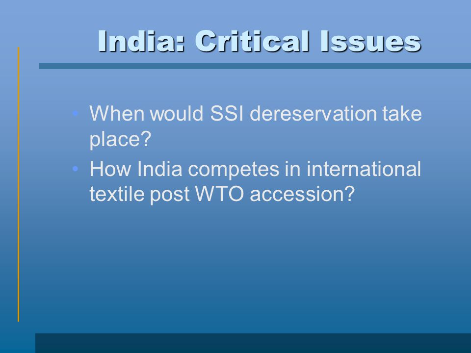 India: Critical Issues