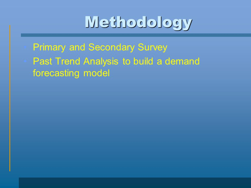 Methodology Primary and Secondary Survey
