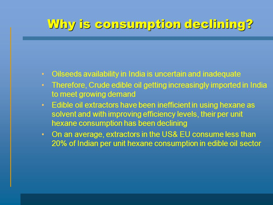 Why is consumption declining