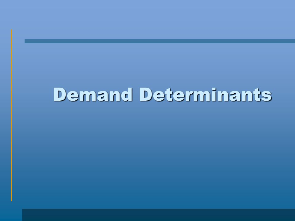 Demand Determinants