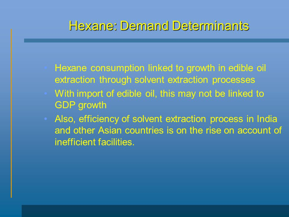 Hexane: Demand Determinants