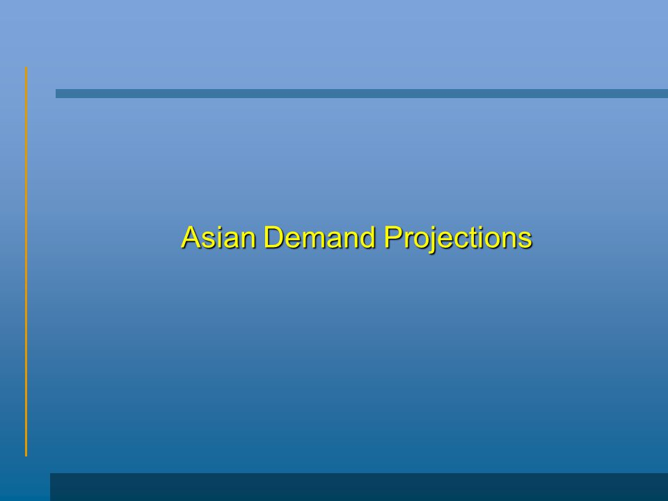Asian Demand Projections