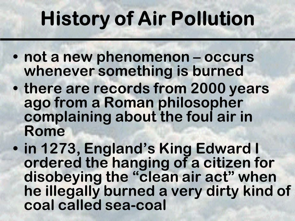 History of Air Pollution