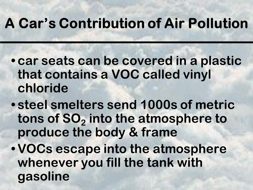 A Car's Contribution of Air Pollution
