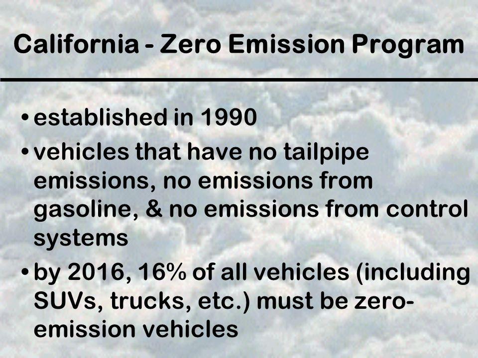 California - Zero Emission Program