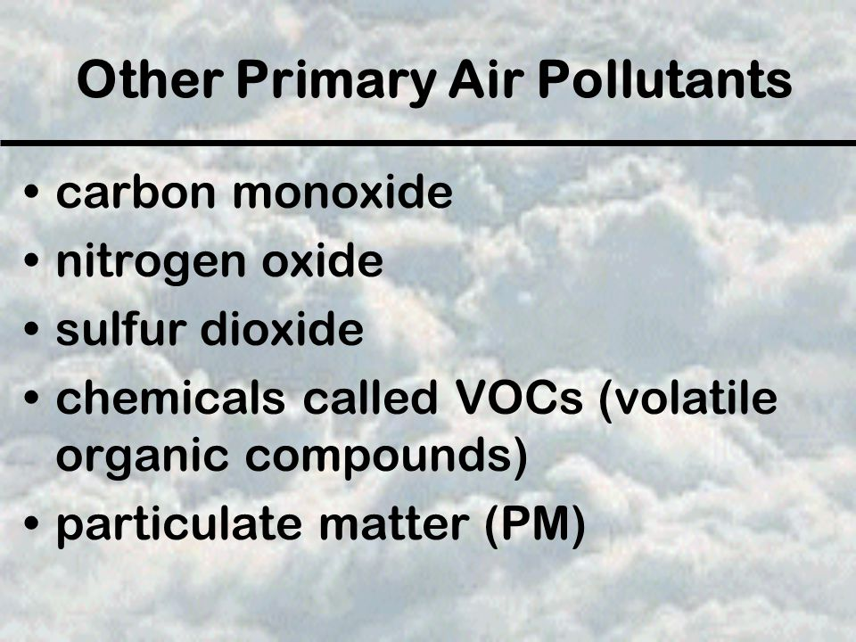 Other Primary Air Pollutants