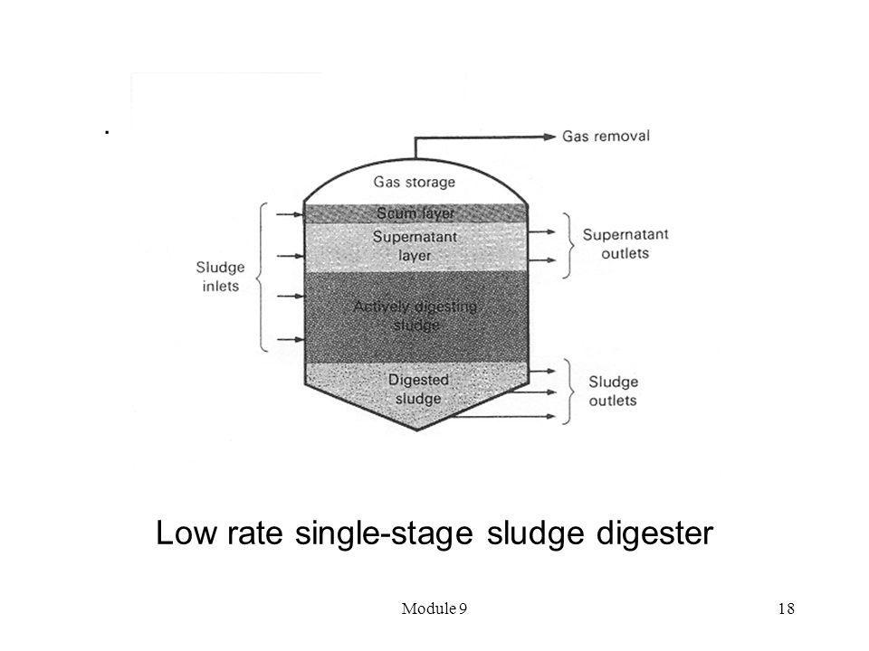 Low rate single-stage sludge digester