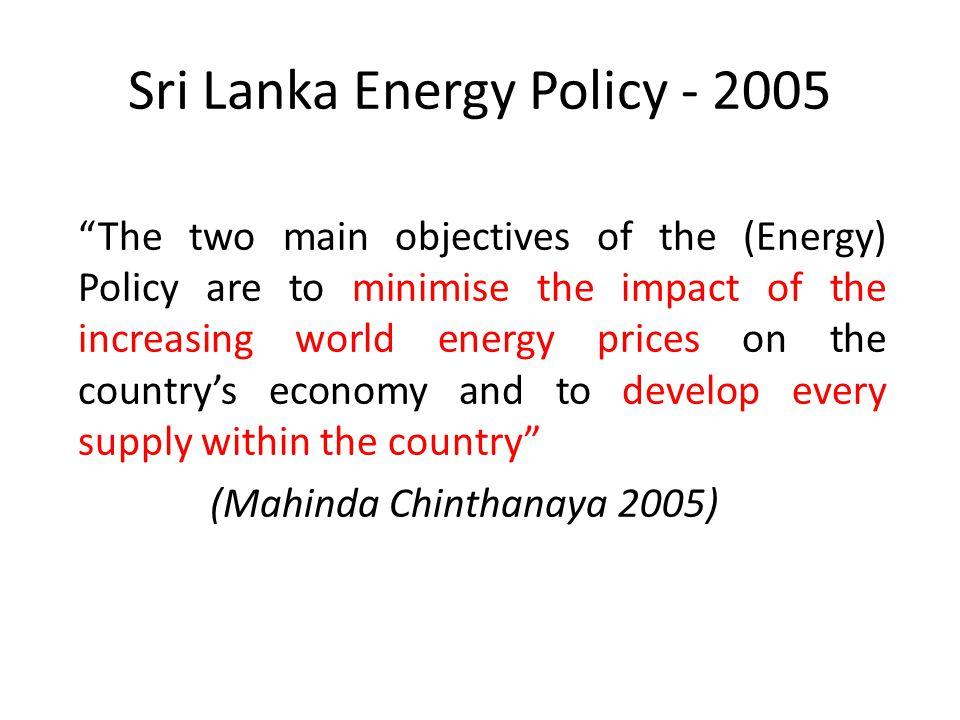 Sri Lanka Energy Policy - 2005