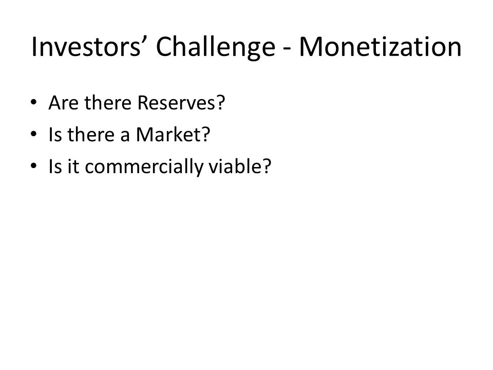 Investors' Challenge - Monetization