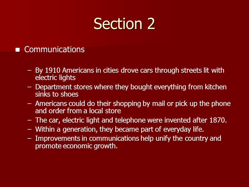 Section 2 Communications