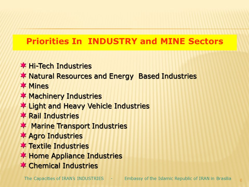 Priorities In INDUSTRY and MINE Sectors