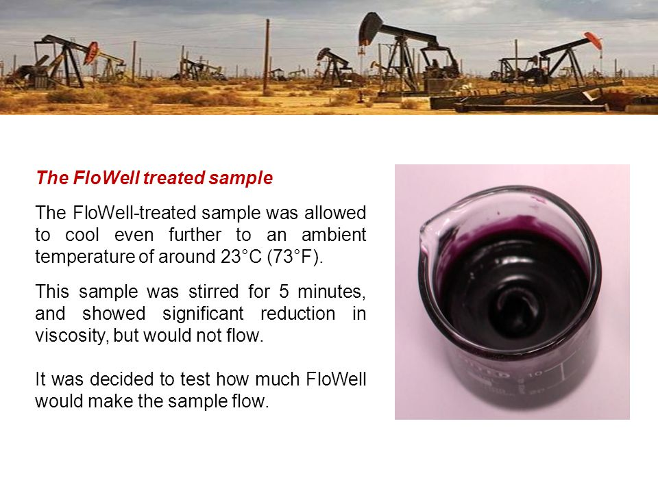 The FloWell treated sample