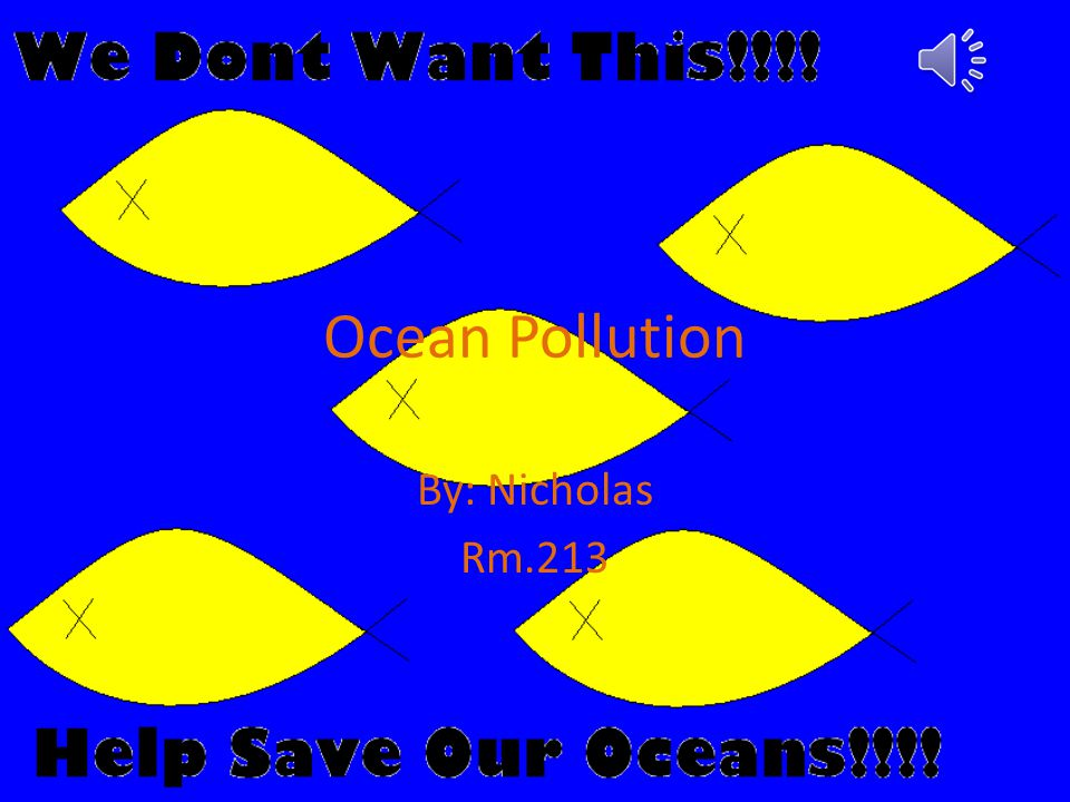 Ocean Pollution By: Nicholas Rm.213