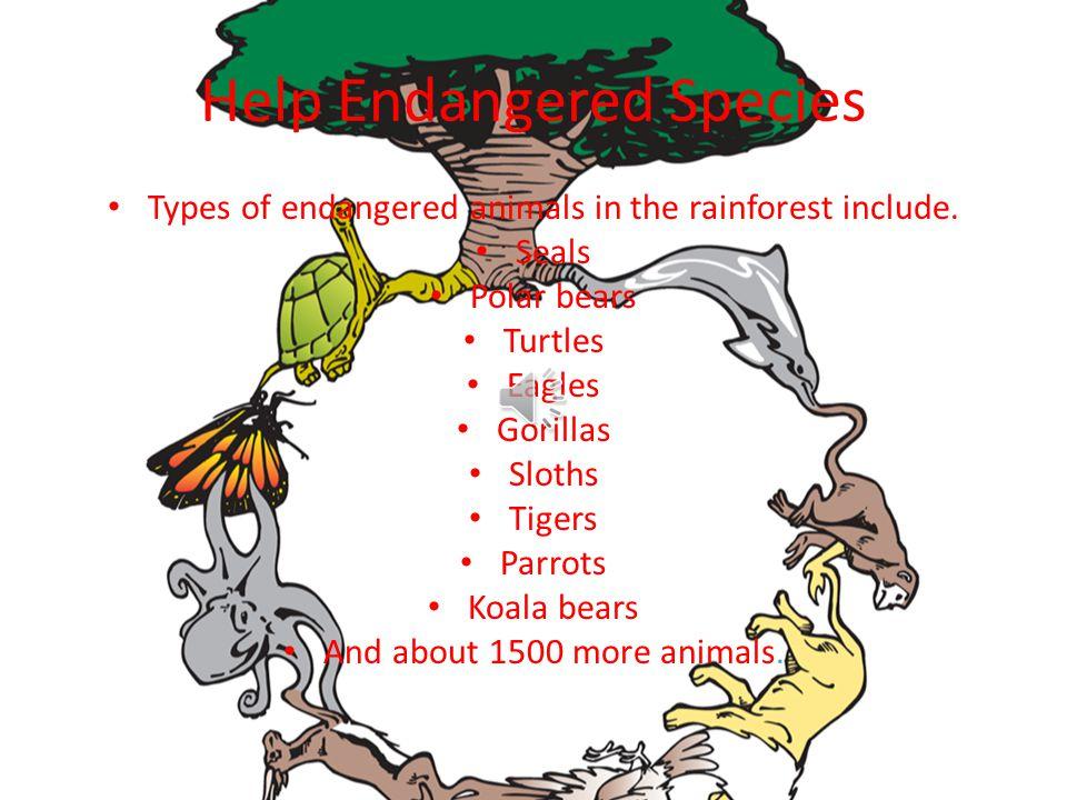Help Endangered Species