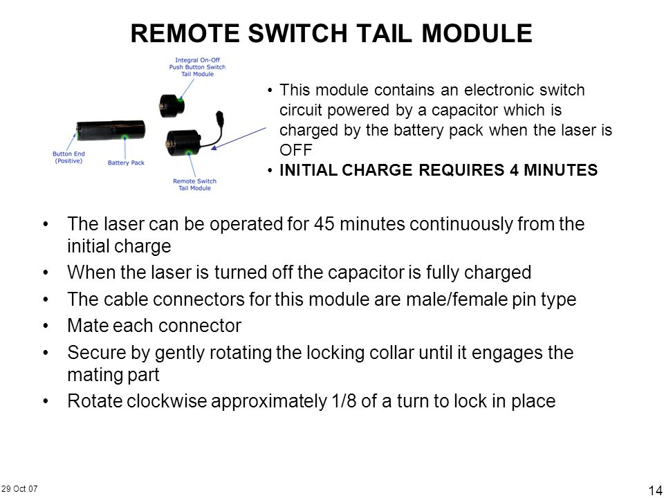 REMOTE SWITCH TAIL MODULE