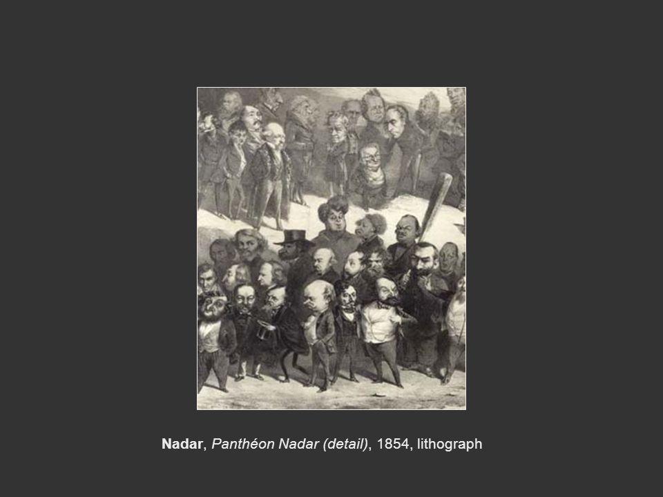 Nadar, Panthéon Nadar (detail), 1854, lithograph