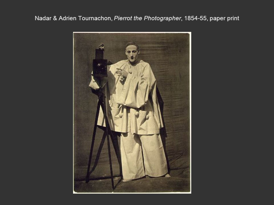 Nadar & Adrien Tournachon, Pierrot the Photographer, 1854-55, paper print