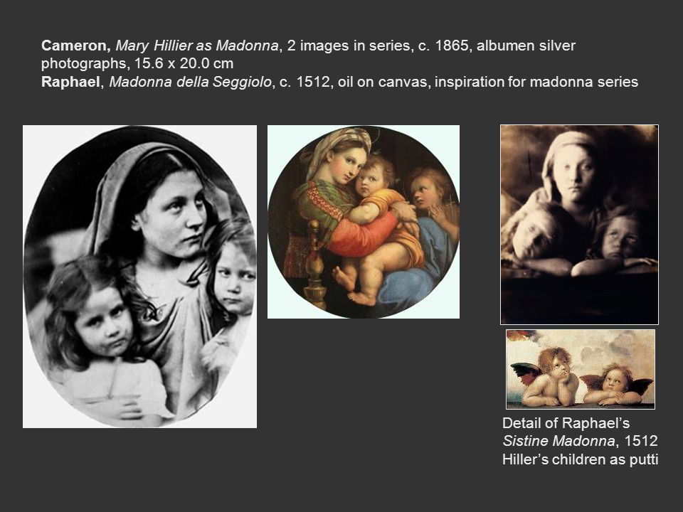 Cameron, Mary Hillier as Madonna, 2 images in series, c