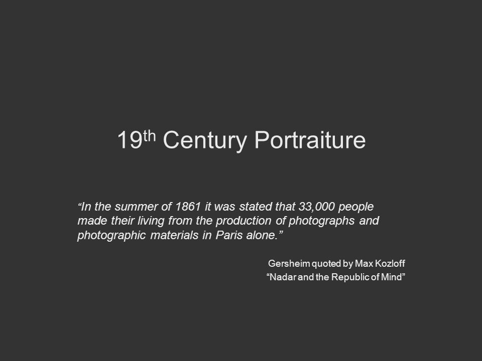19th Century Portraiture
