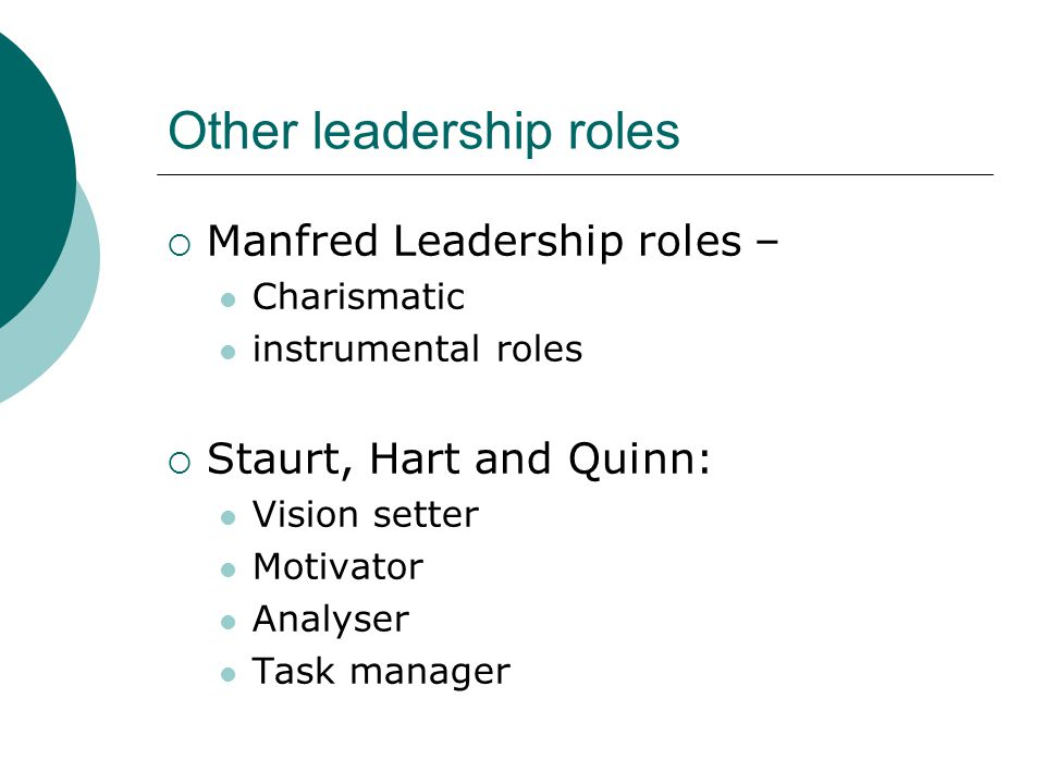 Other leadership roles