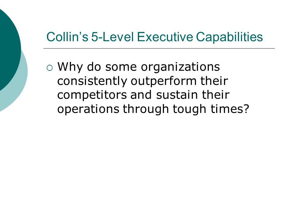 Collin's 5-Level Executive Capabilities