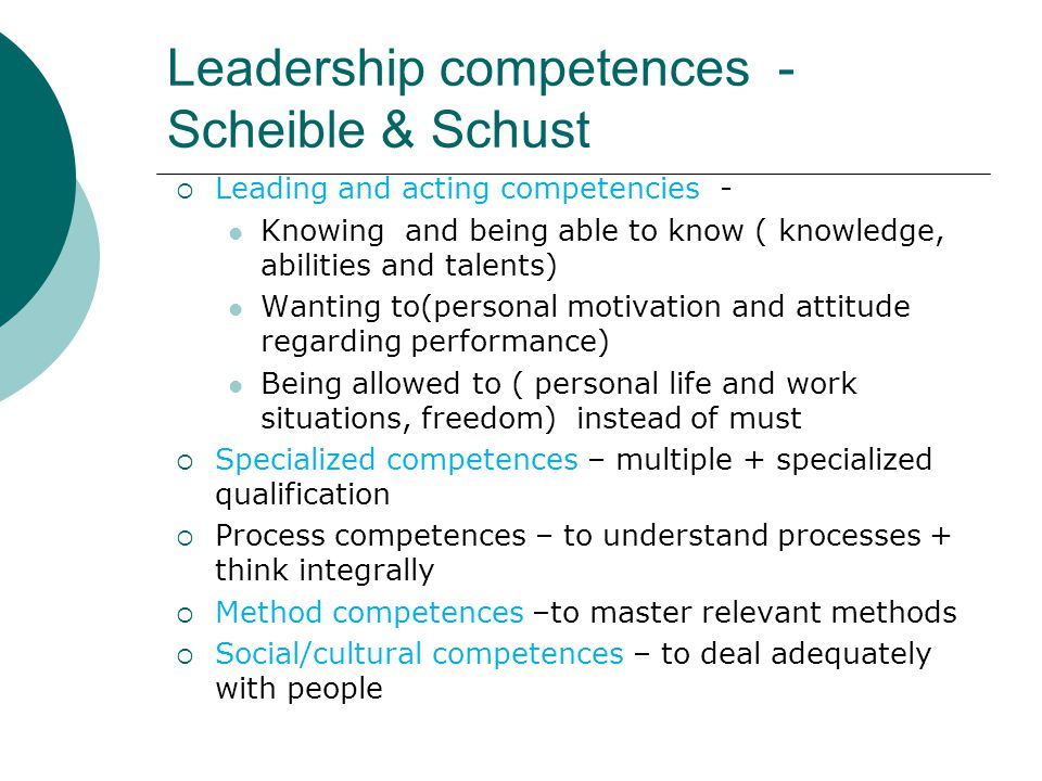 Leadership competences - Scheible & Schust
