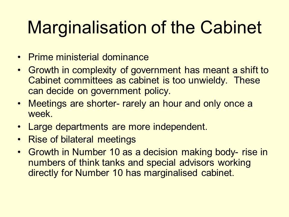 Marginalisation of the Cabinet