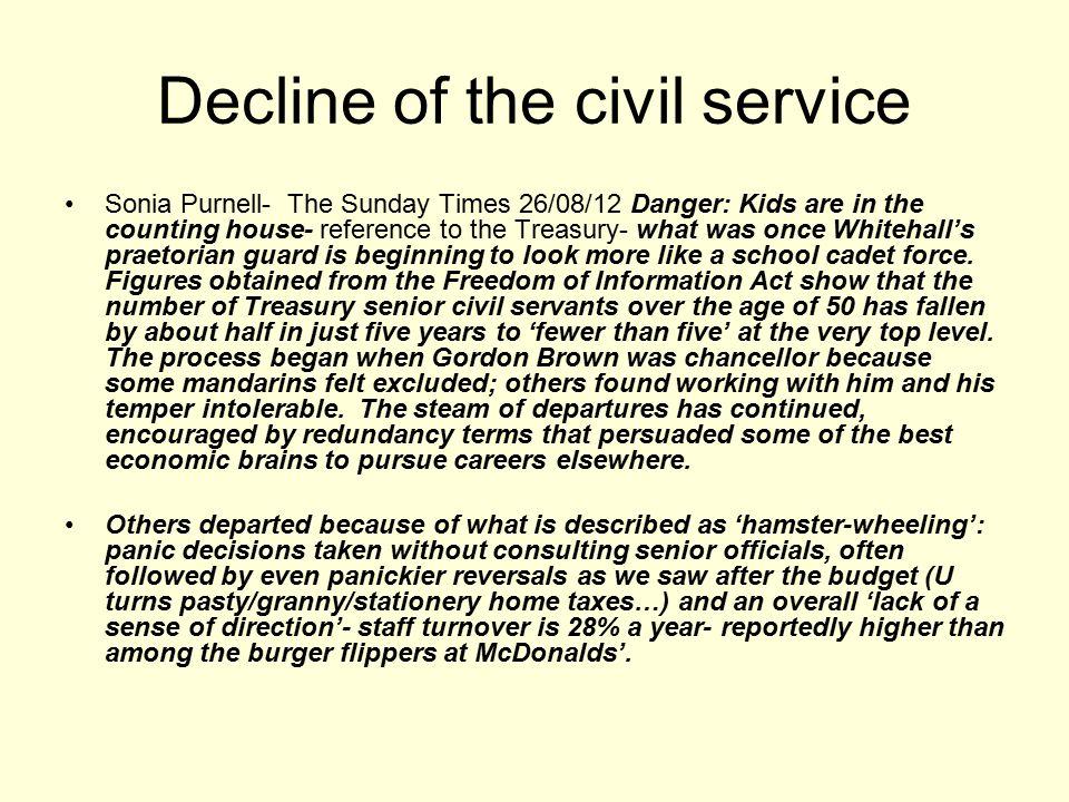 Decline of the civil service