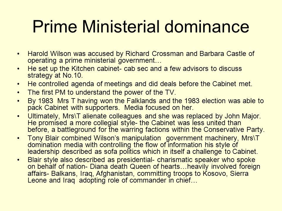 Prime Ministerial dominance