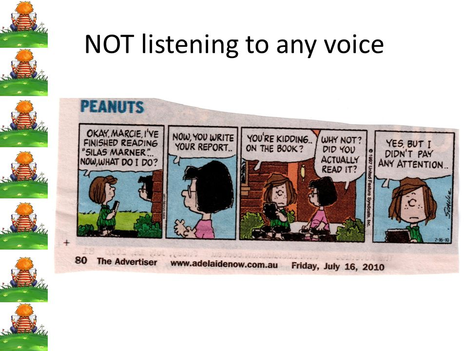 NOT listening to any voice