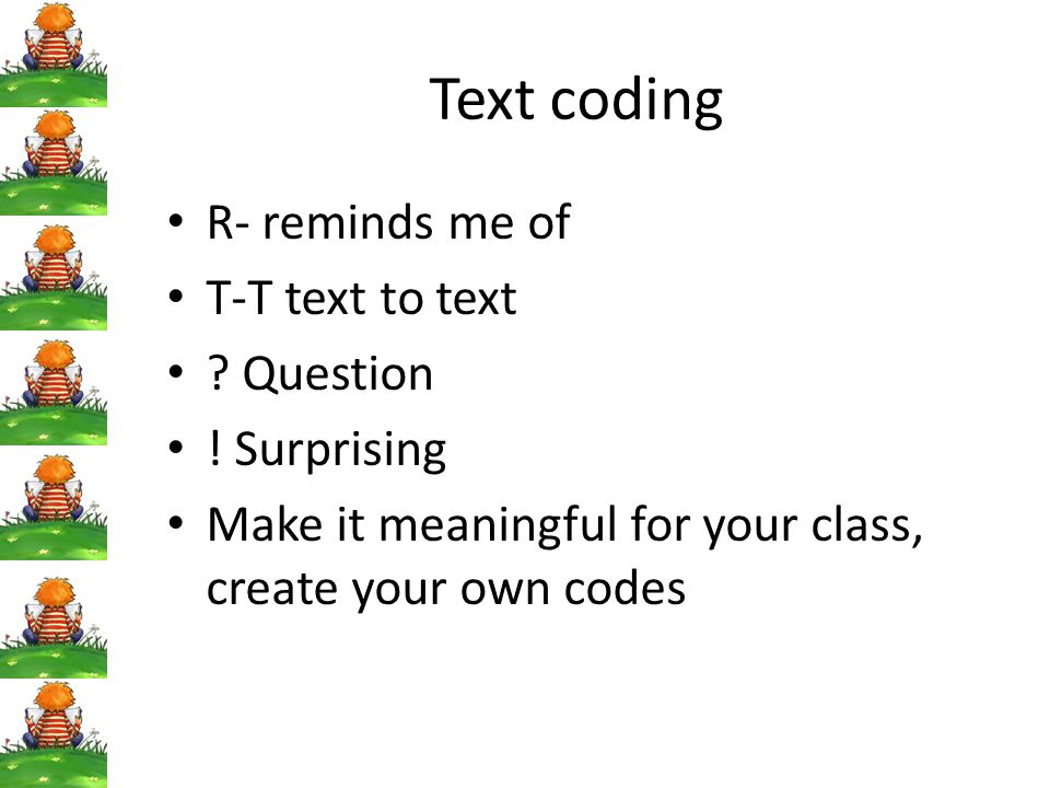 Text coding R- reminds me of T-T text to text Question ! Surprising