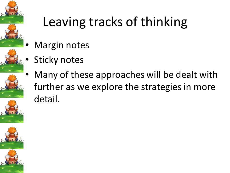 Leaving tracks of thinking
