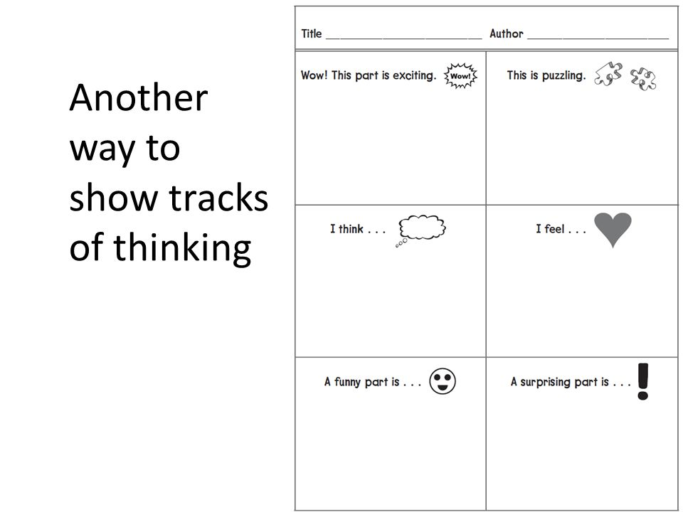 Another way to show tracks of thinking