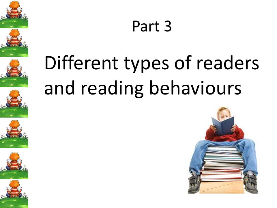 Different types of readers and reading behaviours