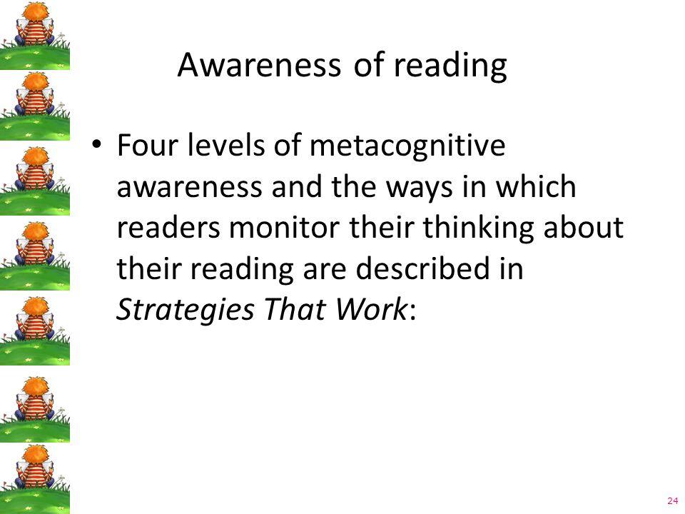 Awareness of reading