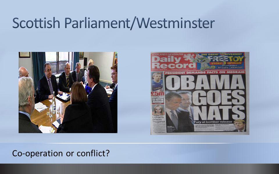 Scottish Parliament/Westminster