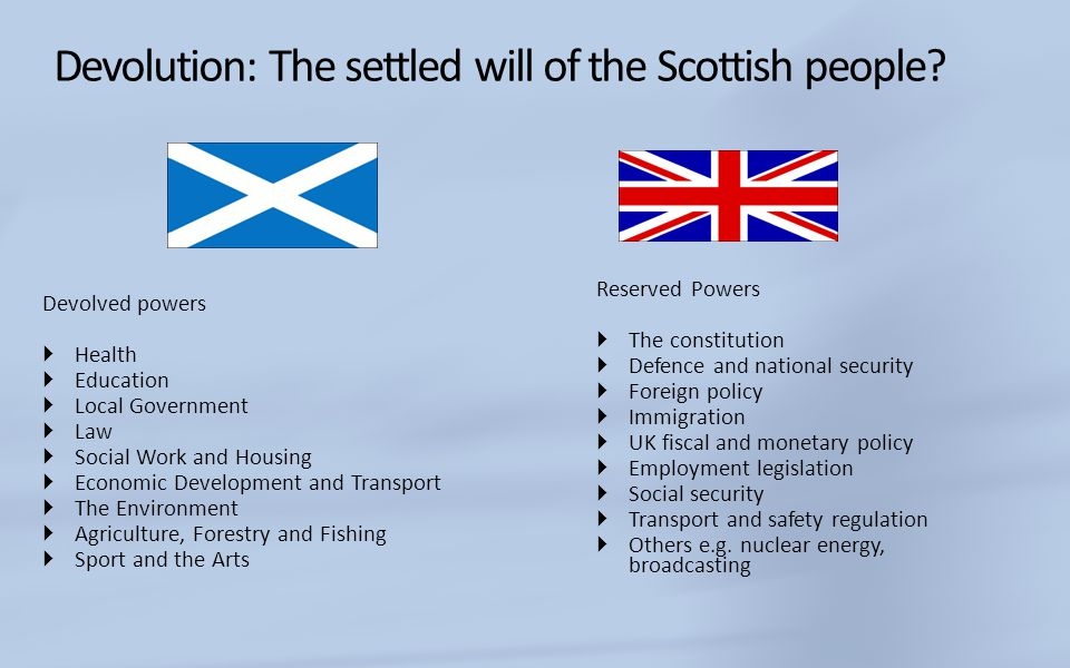 Devolution: The settled will of the Scottish people