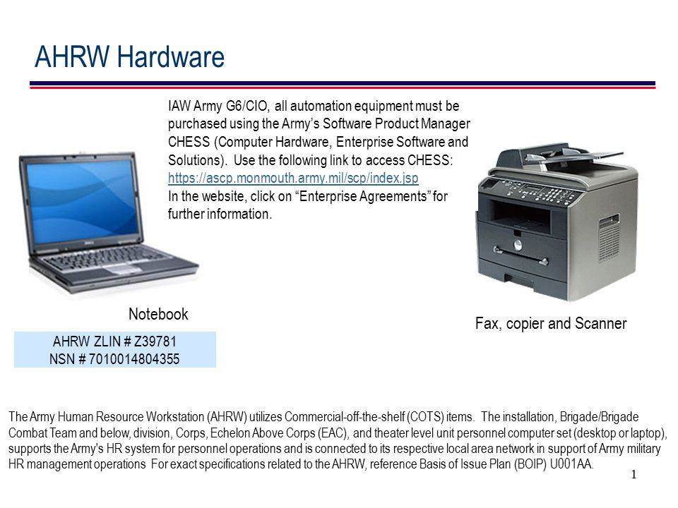 AHRW Hardware Notebook Fax, copier and Scanner
