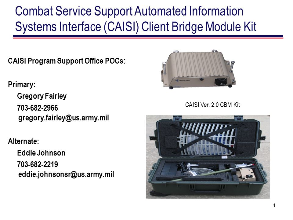 Combat Service Support Automated Information Systems Interface (CAISI) Client Bridge Module Kit