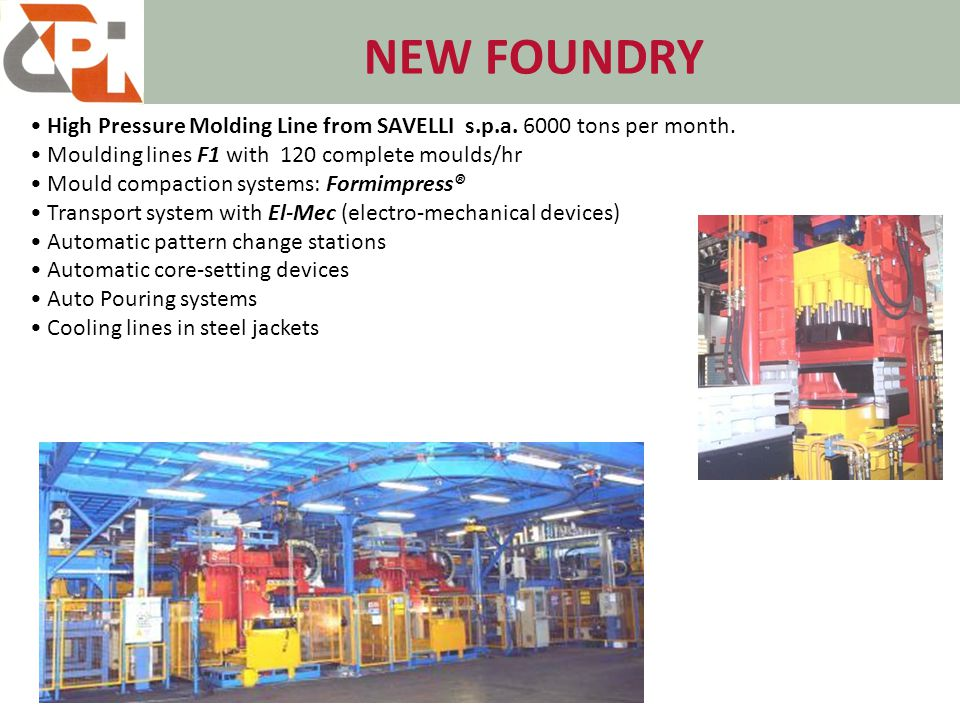 NEW -Foundry Nodular Iron with George fisher Converter – 2MT Capacity