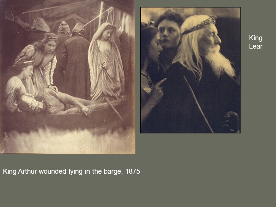 King Lear King Arthur wounded lying in the barge, 1875